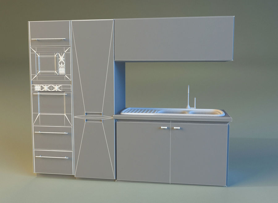 Kitchen 3 royalty-free 3d model - Preview no. 9