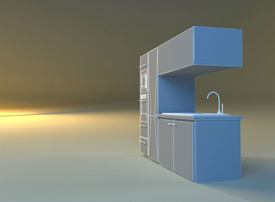Kitchen 3 royalty-free 3d model - Preview no. 10