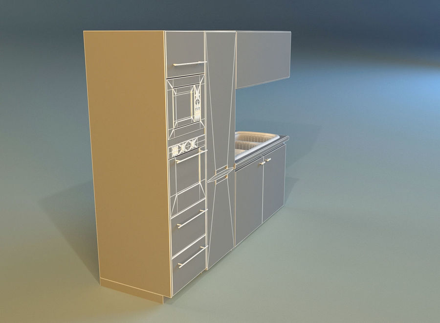 Kitchen 3 royalty-free 3d model - Preview no. 14