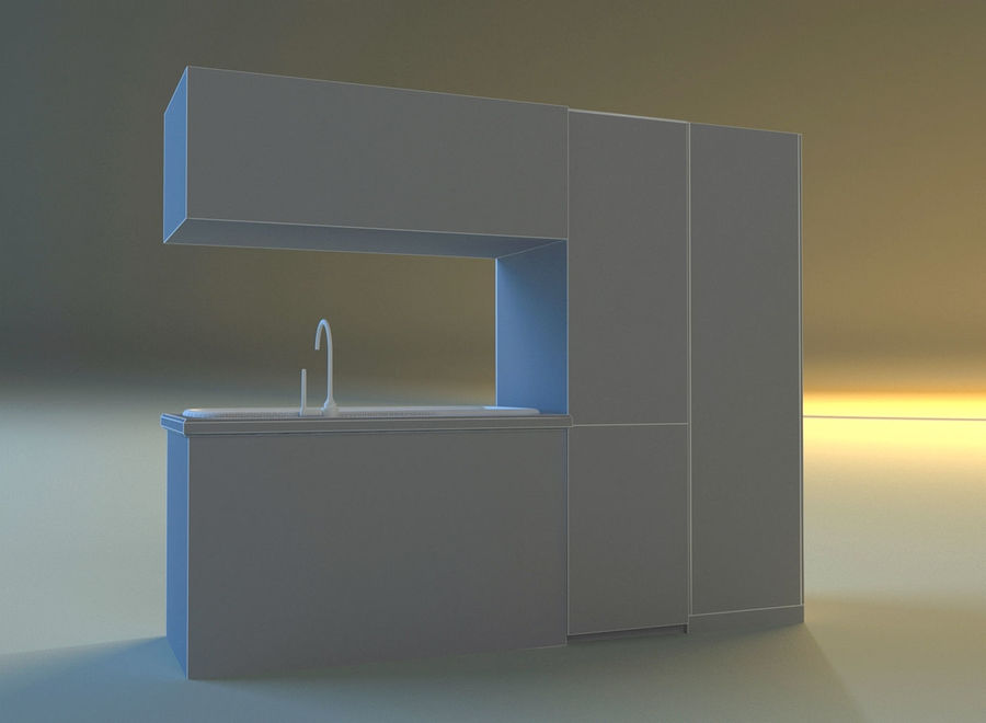 Kitchen 3 royalty-free 3d model - Preview no. 11
