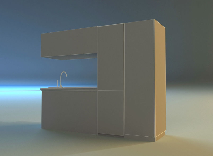 Kitchen 3 royalty-free 3d model - Preview no. 13