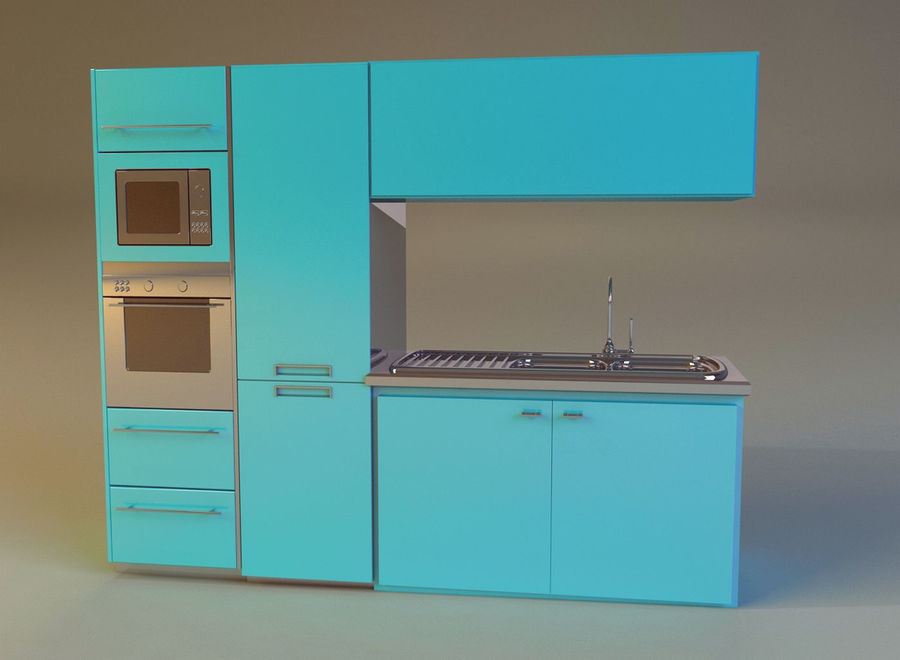 Kitchen 3 royalty-free 3d model - Preview no. 3