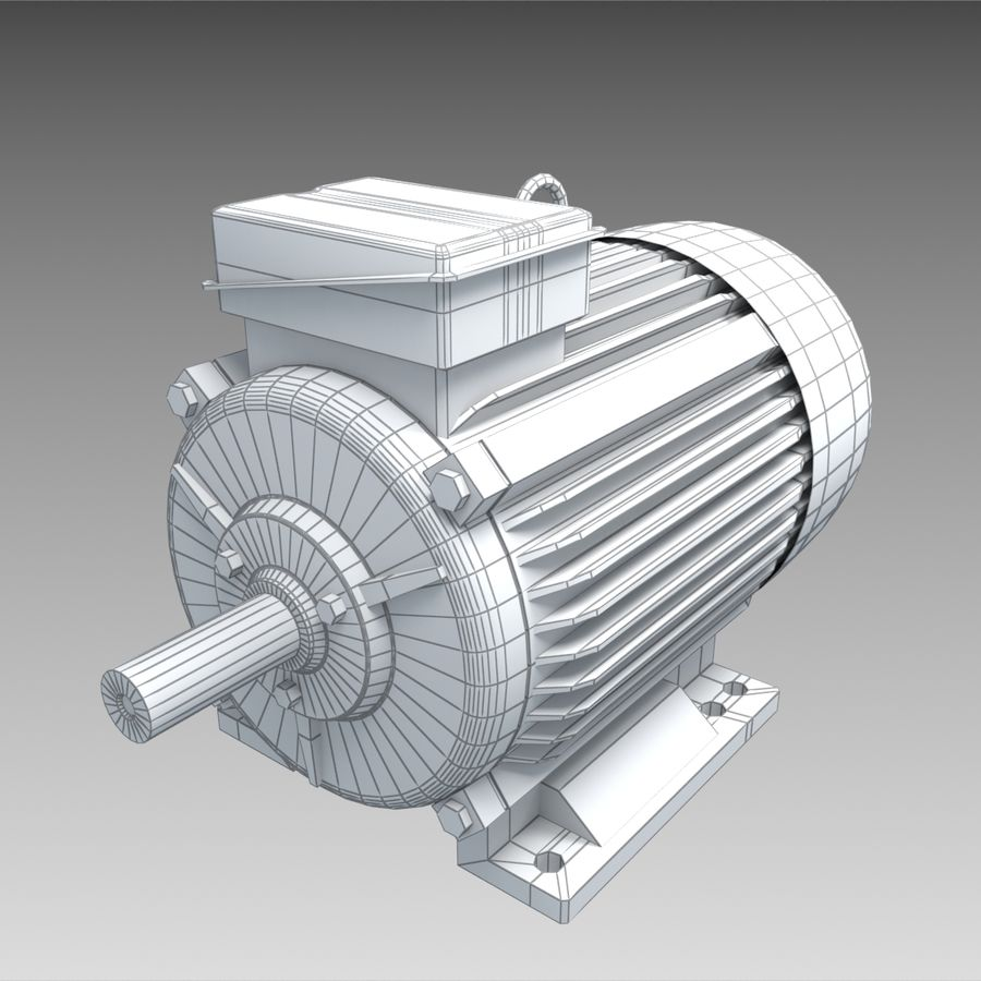 Electric motor royalty-free 3d model - Preview no. 7