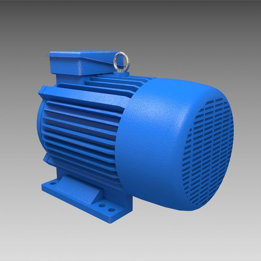 Electric motor royalty-free 3d model - Preview no. 4