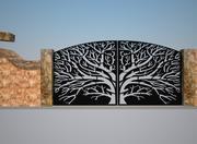 Puerta de doble valla modelo 3d