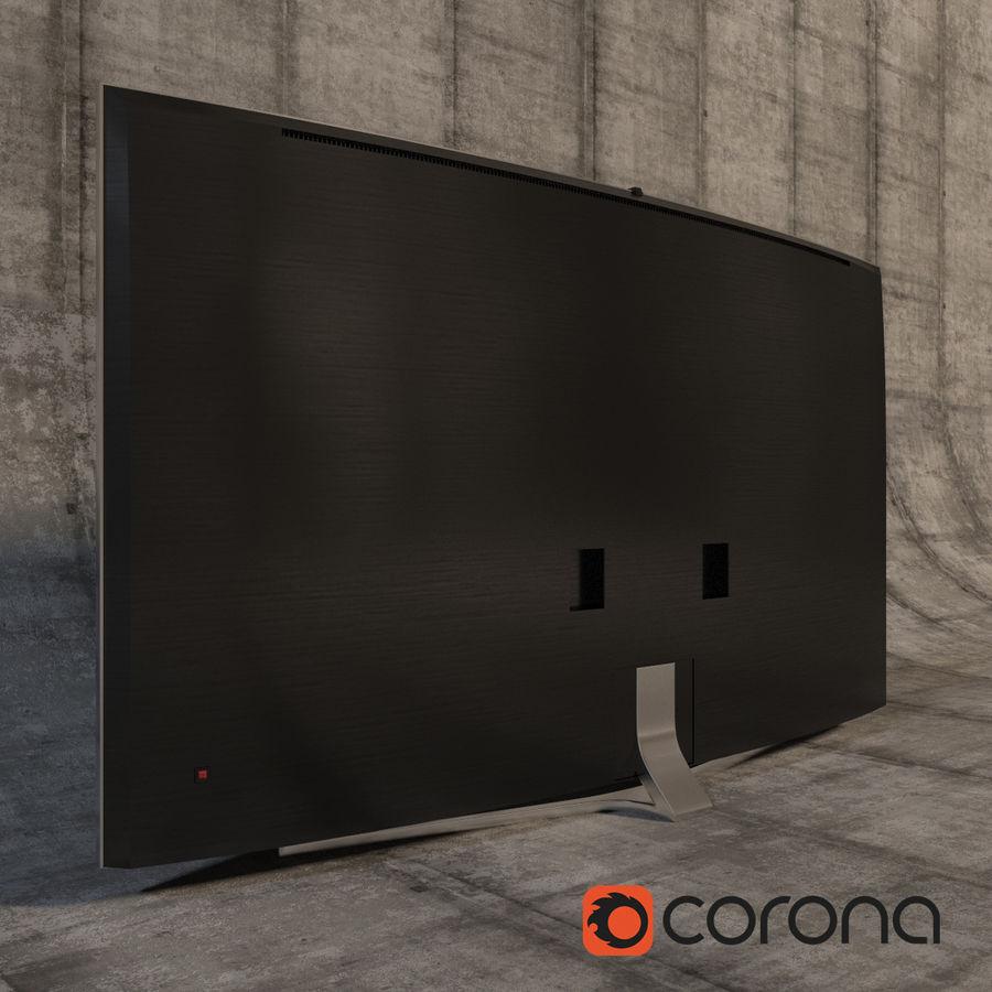 Samsung 3D Led TV 4K SUHD 88 JS9500 9 Serisi Kavisli Korona İşleyicisi royalty-free 3d model - Preview no. 6