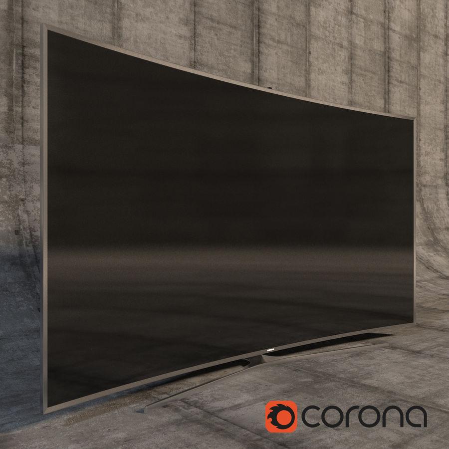 Samsung 3D Led TV 4K SUHD 88 JS9500 9 Serisi Kavisli Korona İşleyicisi royalty-free 3d model - Preview no. 5