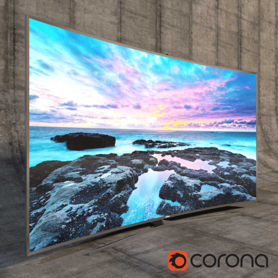 Samsung 3D Led TV 4K SUHD 88 JS9500 9 Serisi Kavisli Korona İşleyicisi royalty-free 3d model - Preview no. 1