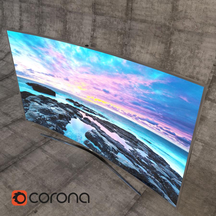 Samsung 3D Led TV 4K SUHD 88 JS9500 9 Serisi Kavisli Korona İşleyicisi royalty-free 3d model - Preview no. 3