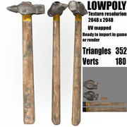 old hammer tool 3d model