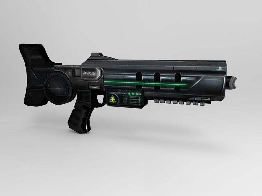 weapon modern royalty-free 3d model - Preview no. 4