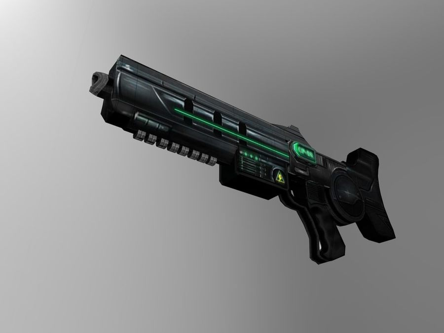 weapon modern royalty-free 3d model - Preview no. 8