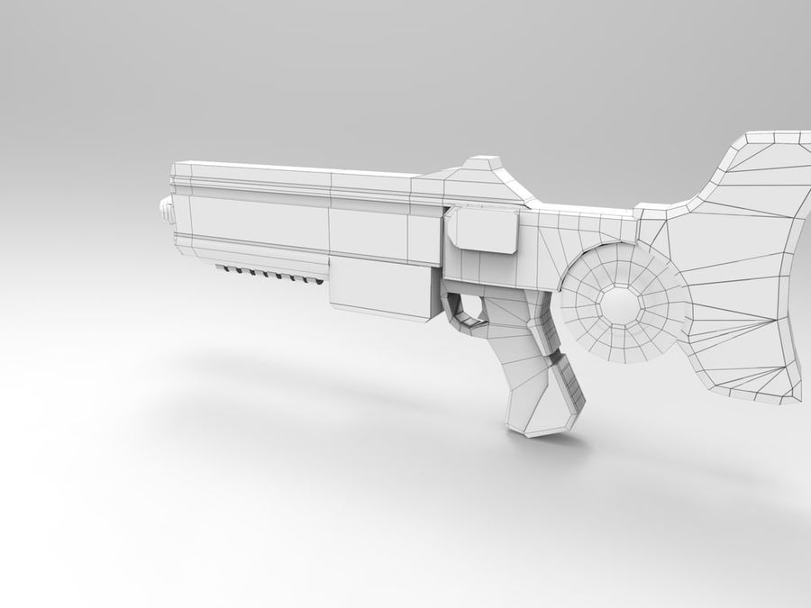 weapon modern royalty-free 3d model - Preview no. 6