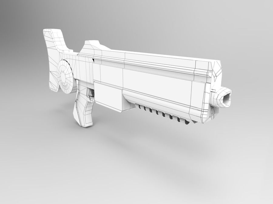 weapon modern royalty-free 3d model - Preview no. 7