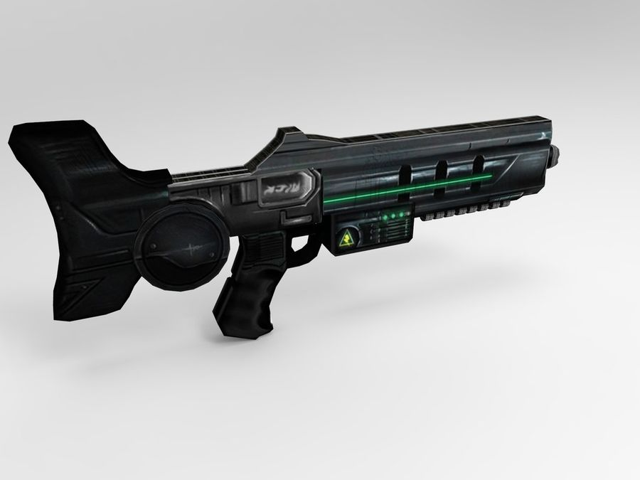 weapon modern royalty-free 3d model - Preview no. 5