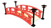 Puente japonés modelo 3d