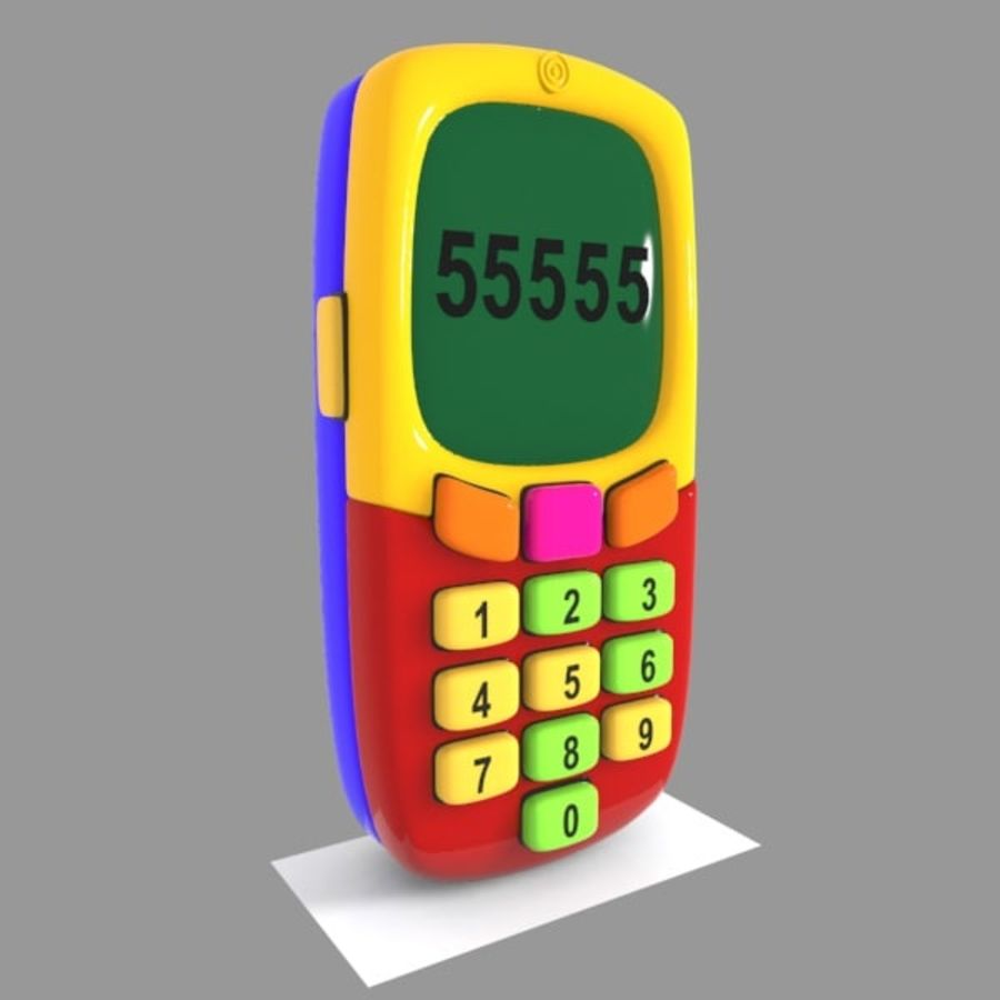 Giocattolo per telefono cellulare royalty-free 3d model - Preview no. 2