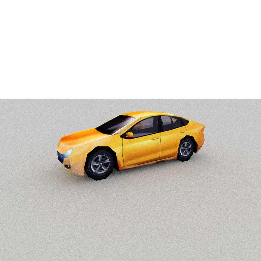 セダン車 royalty-free 3d model - Preview no. 4