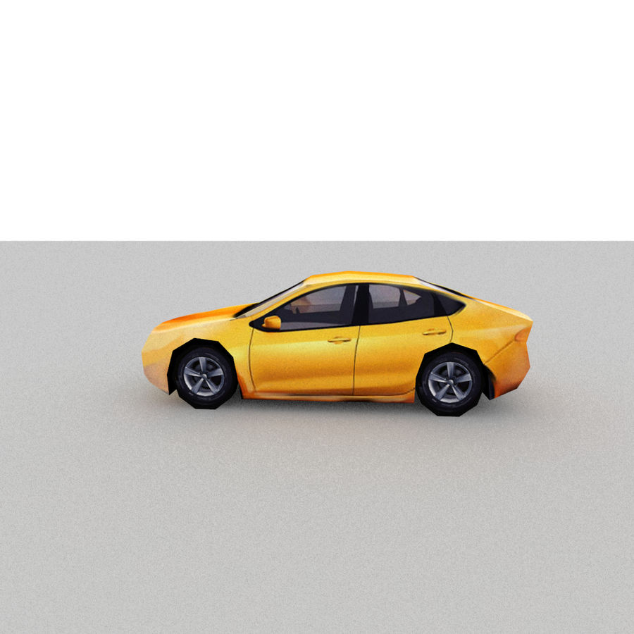 セダン車 royalty-free 3d model - Preview no. 3