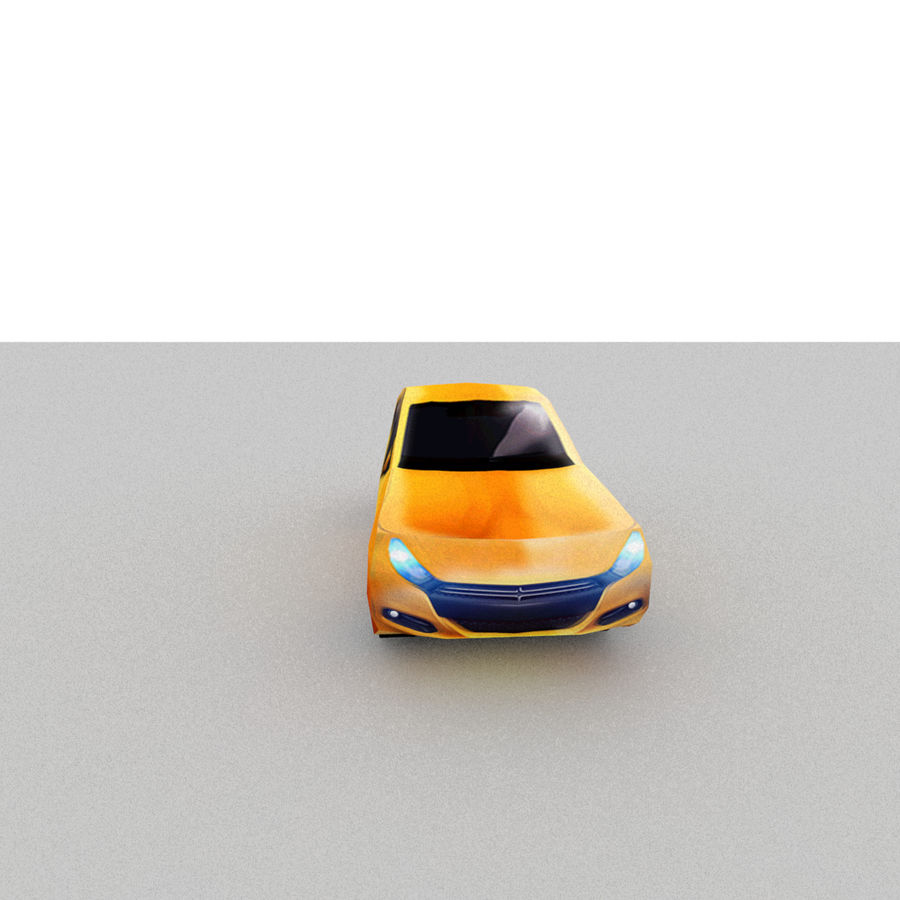 セダン車 royalty-free 3d model - Preview no. 6