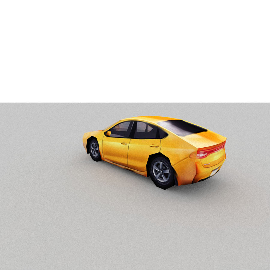 セダン車 royalty-free 3d model - Preview no. 1