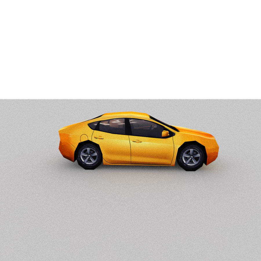 セダン車 royalty-free 3d model - Preview no. 9
