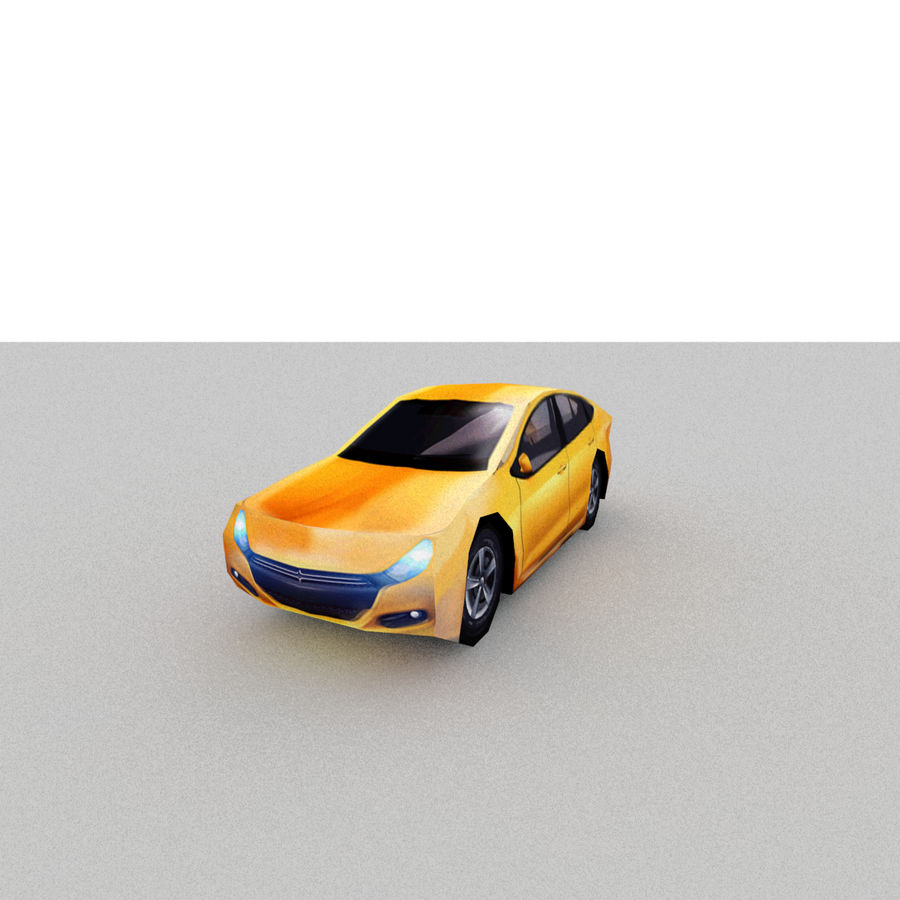 セダン車 royalty-free 3d model - Preview no. 5