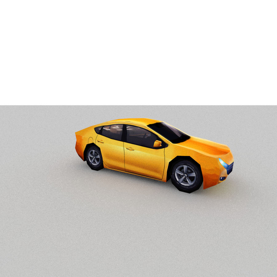 セダン車 royalty-free 3d model - Preview no. 8