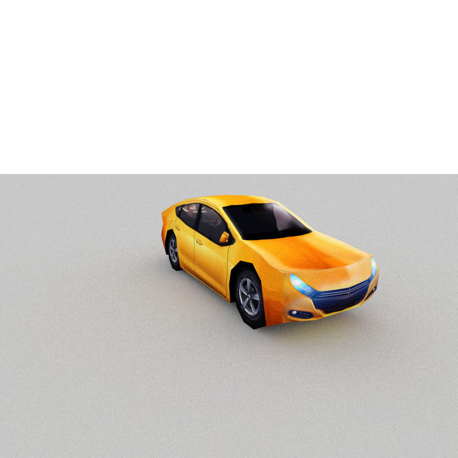 セダン車 royalty-free 3d model - Preview no. 7