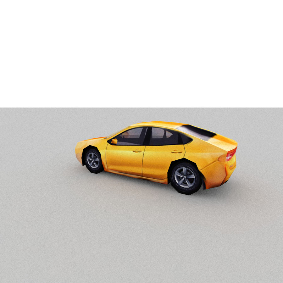 Sedan Car royalty-free 3d model - Preview no. 2