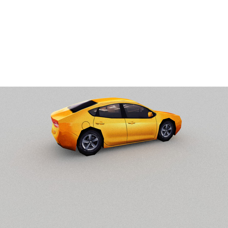 セダン車 royalty-free 3d model - Preview no. 10