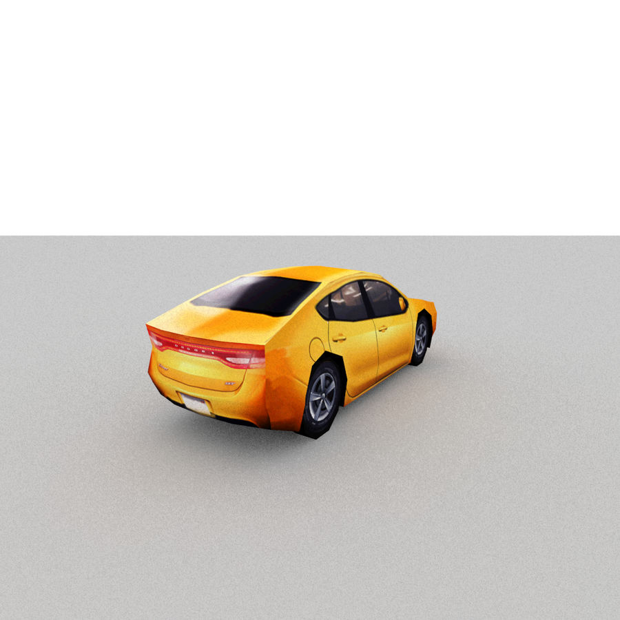 セダン車 royalty-free 3d model - Preview no. 12