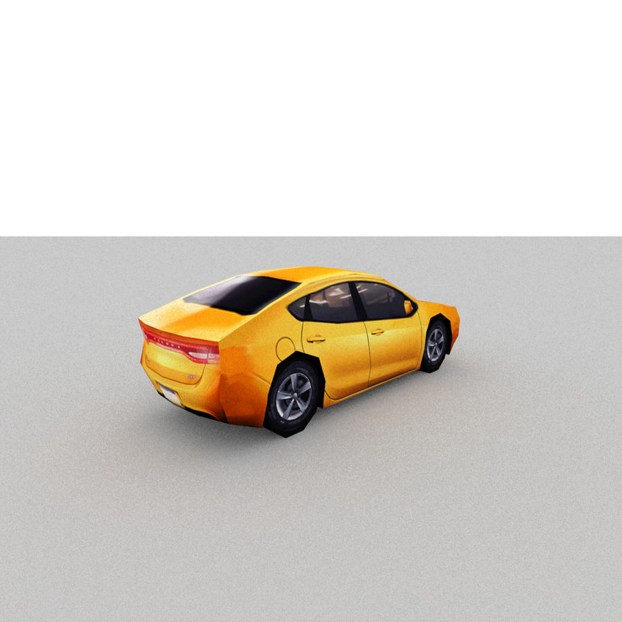 セダン車 royalty-free 3d model - Preview no. 11