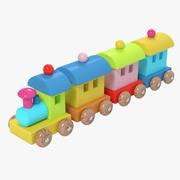 Giocattolo del treno in legno 3d model