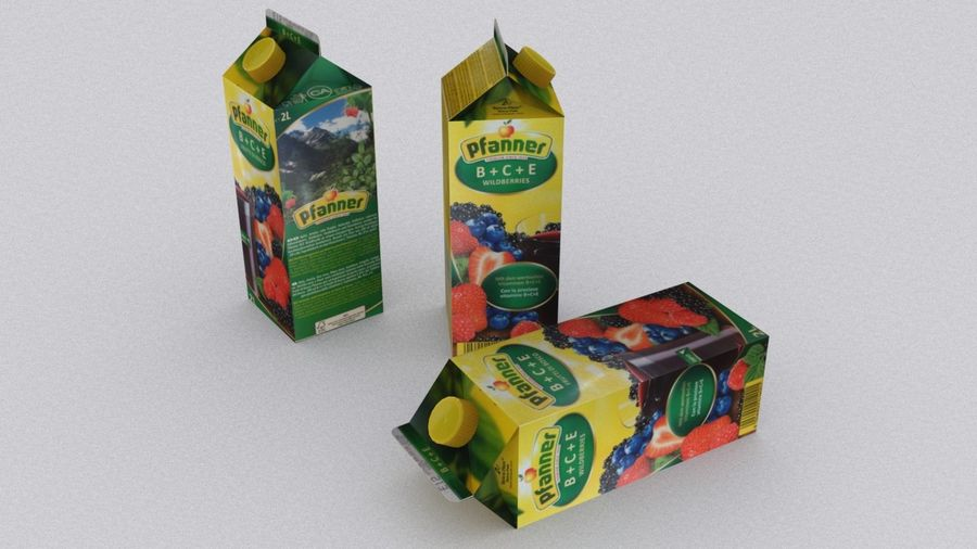 Pfanner Fruit Juice Box 1 royalty-free 3d model - Preview no. 2