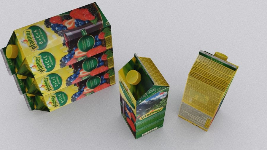 Pfanner Fruit Juice Box 1 royalty-free 3d model - Preview no. 4