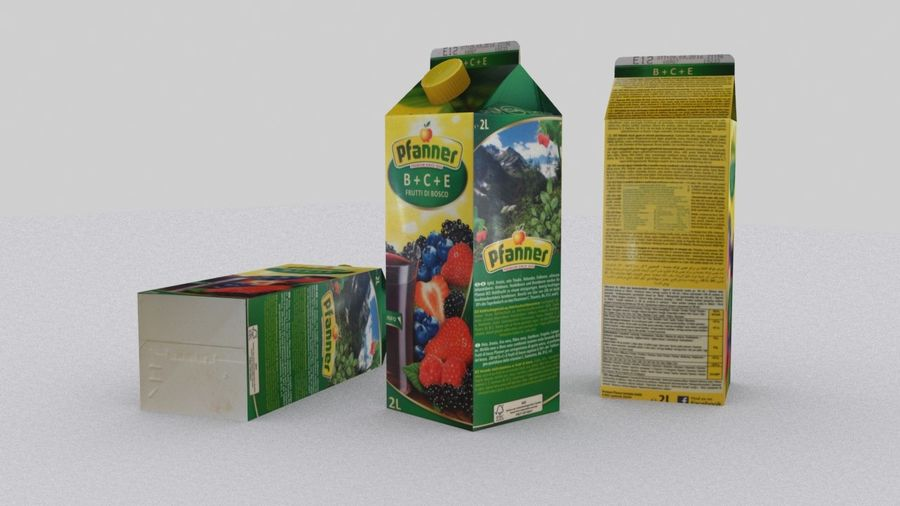 Pfanner Fruit Juice Box 1 royalty-free 3d model - Preview no. 1