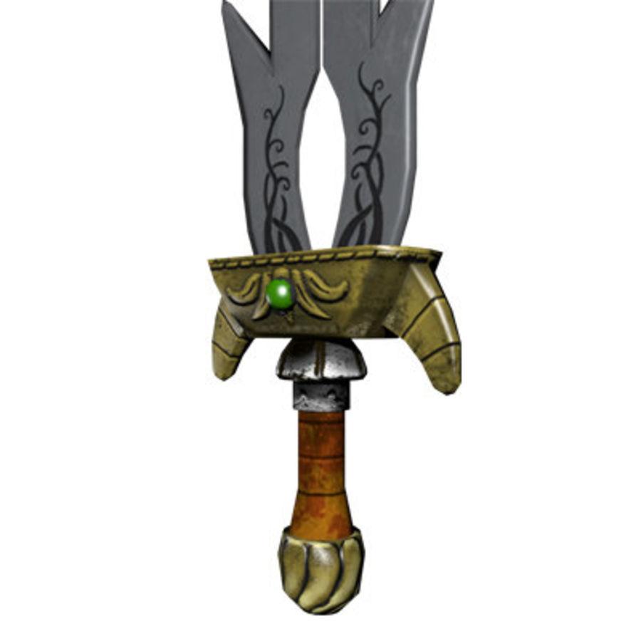 Fantasy Sword royalty-free 3d model - Preview no. 4