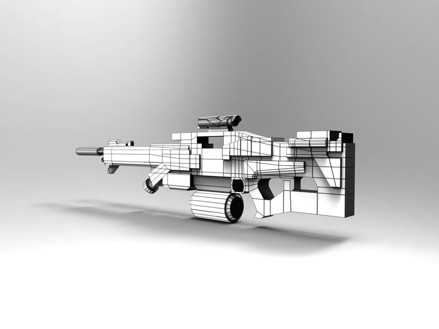 weapon royalty-free 3d model - Preview no. 14