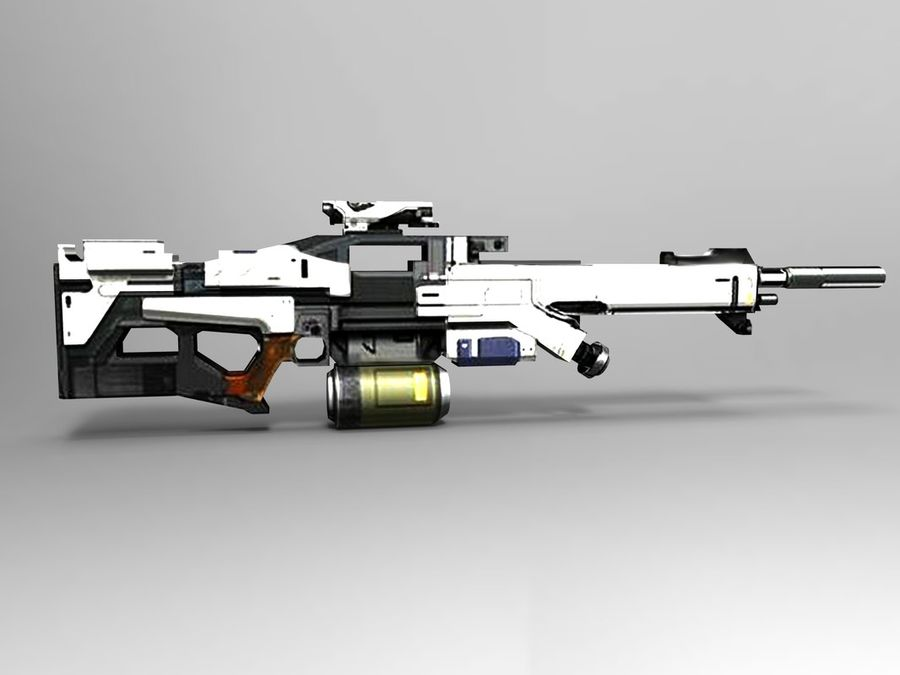 weapon royalty-free 3d model - Preview no. 8
