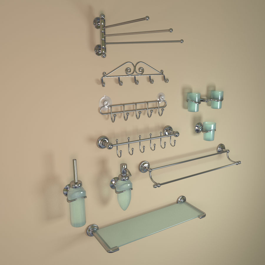 banyo aksesuarları royalty-free 3d model - Preview no. 1
