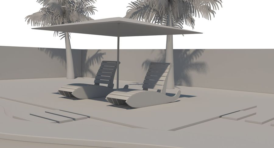 Swimming Pool royalty-free 3d model - Preview no. 22