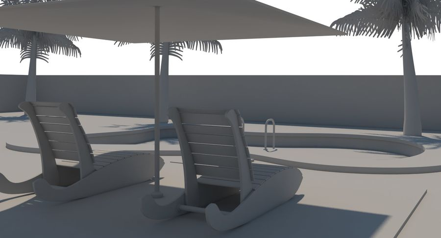 Swimming Pool royalty-free 3d model - Preview no. 25