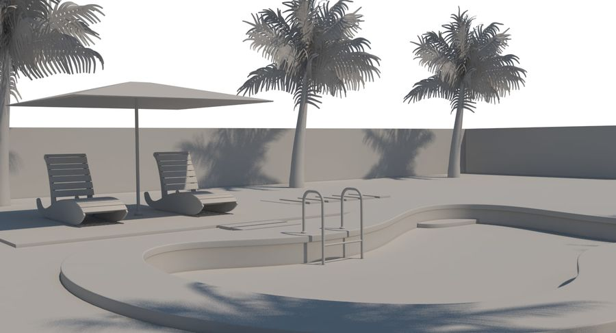 Swimming Pool royalty-free 3d model - Preview no. 23