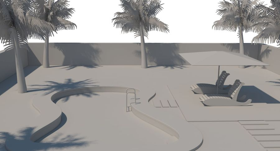 Swimming Pool royalty-free 3d model - Preview no. 20