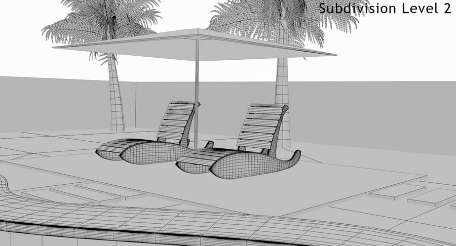 Swimming Pool royalty-free 3d model - Preview no. 34