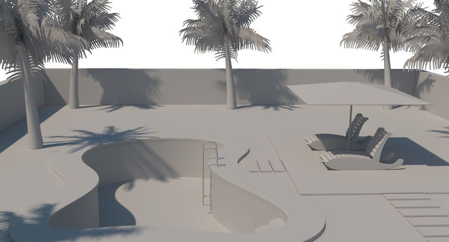 Swimming Pool royalty-free 3d model - Preview no. 21