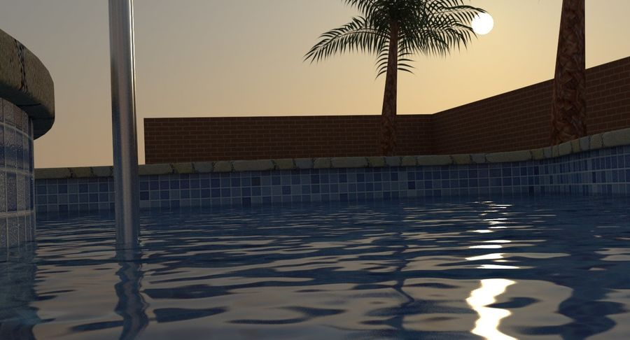 Swimming Pool royalty-free 3d model - Preview no. 5