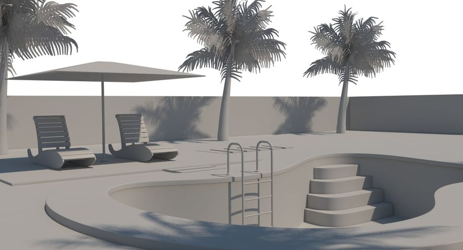 Swimming Pool royalty-free 3d model - Preview no. 24