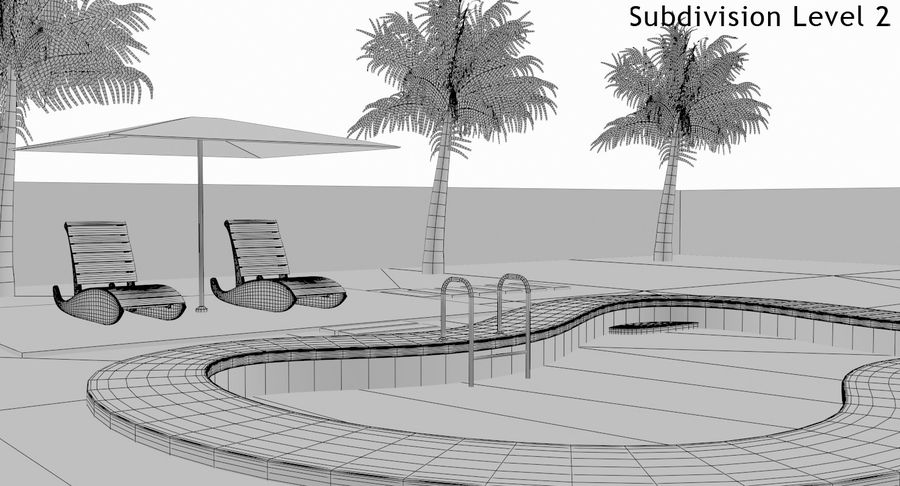 Swimming Pool royalty-free 3d model - Preview no. 36